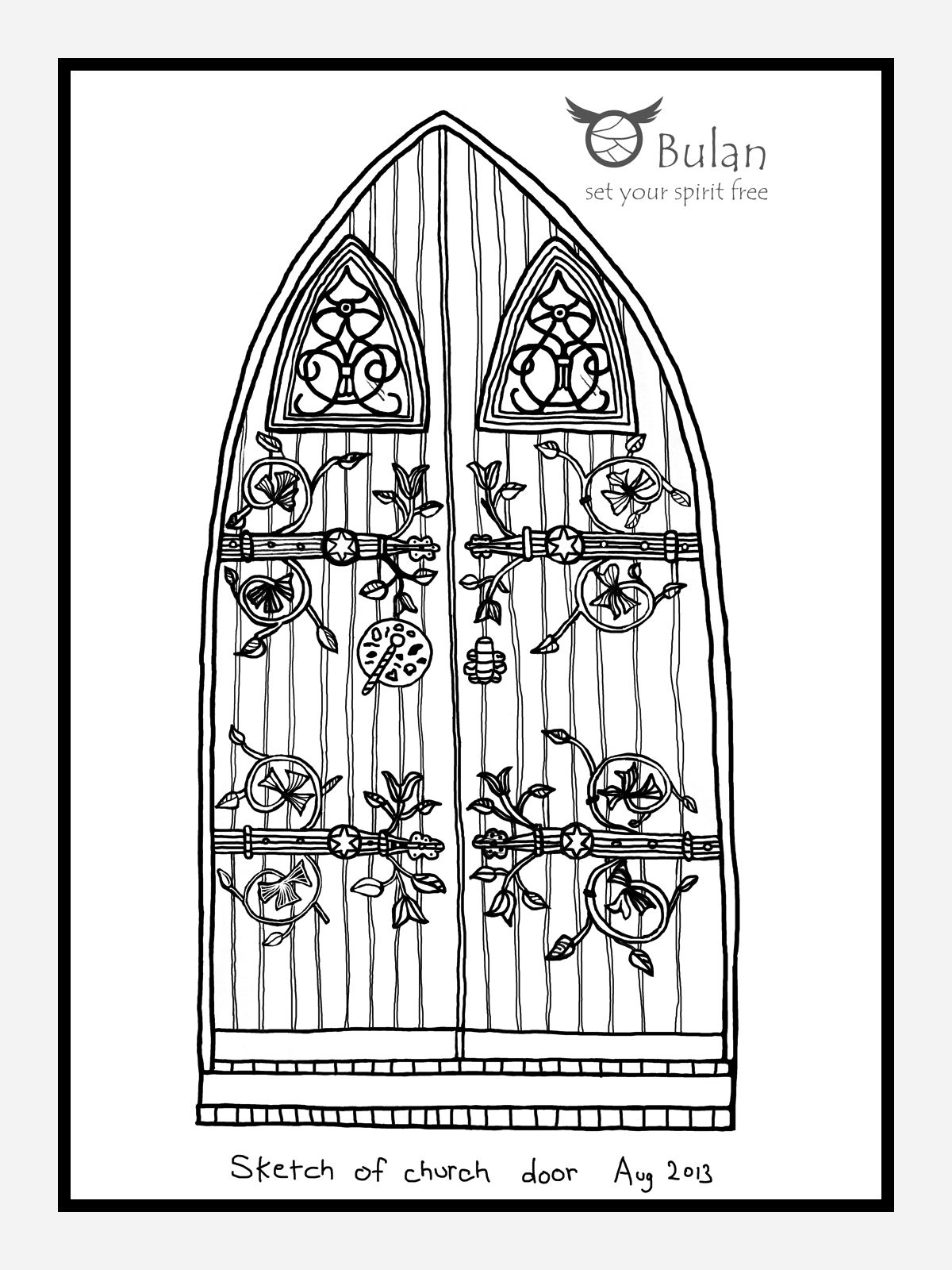 EPS Vector - Castle tower with wooden door. Stock Clipart Illustration  gg92386278 - GoGraph