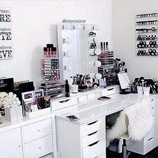 Muebles organizadores de maquillaje  Muebles