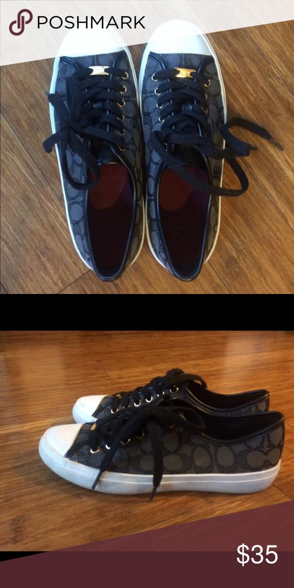 Coach sneakers! Worn twice, minor scruff on top of toe Coach Shoes Sneakers