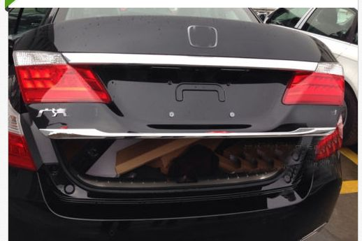 Chrome Rear Cargo Trunk Lid Trim For Honda Accord Sedan 2013 2014 Honda Accord Sedan Hatchback