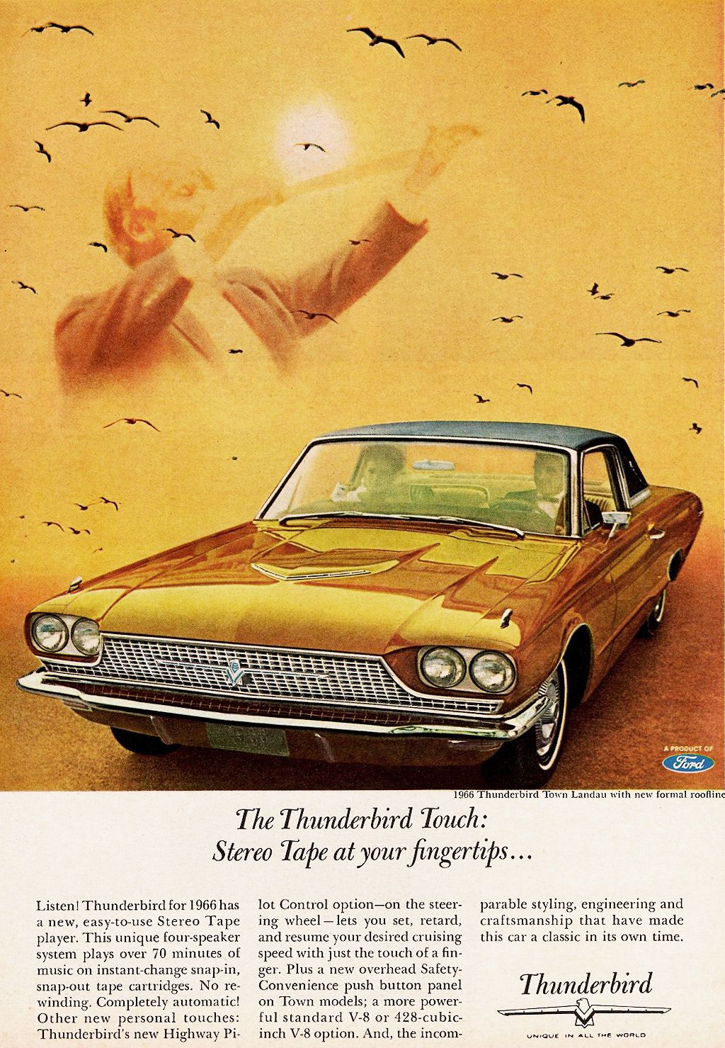 1966 Thunderbird Ad Thunderbirds Pinterest Ford Ford