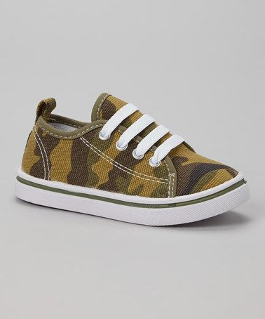 Green Camp Sneaker by LILLY of NEW YORK #zulily #zulilyfinds