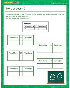 More Or Less 2 Printable Math Worksheet For 1st Grade Printable Math Worksheets Kids Math Worksheets Free Printable Math Worksheets