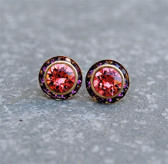 Watermelon Pink Amethyst Earrings