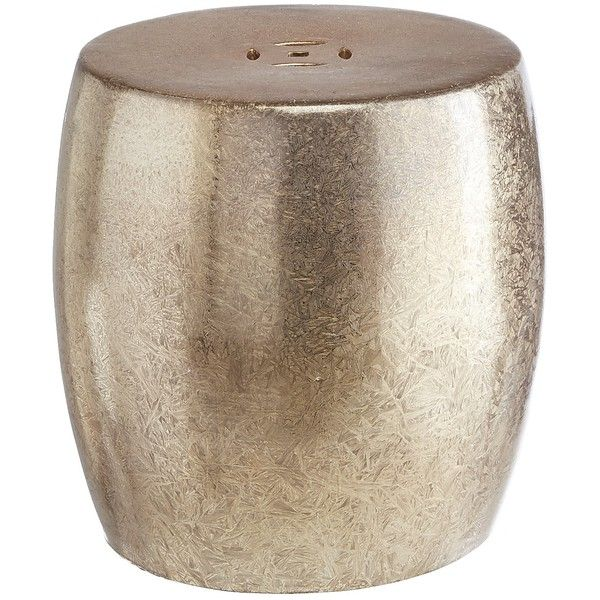 Pier 1 Imports Silver Sand Dollar Garden Stool ($130) ❤ Liked On Polyvore  Featuring