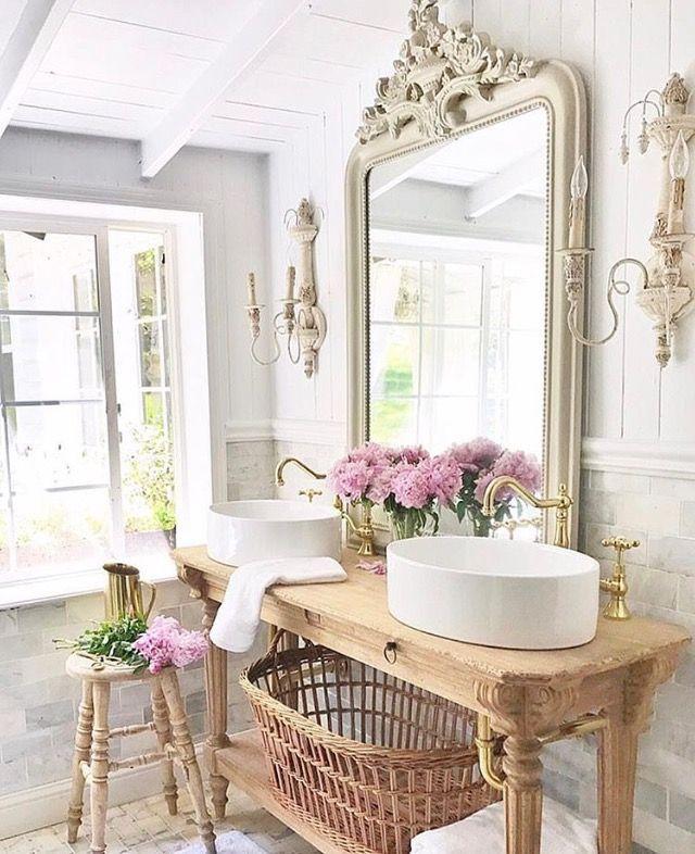 french country cottage via instagram shabbychicbathroomsvanity rh pinterest cl
