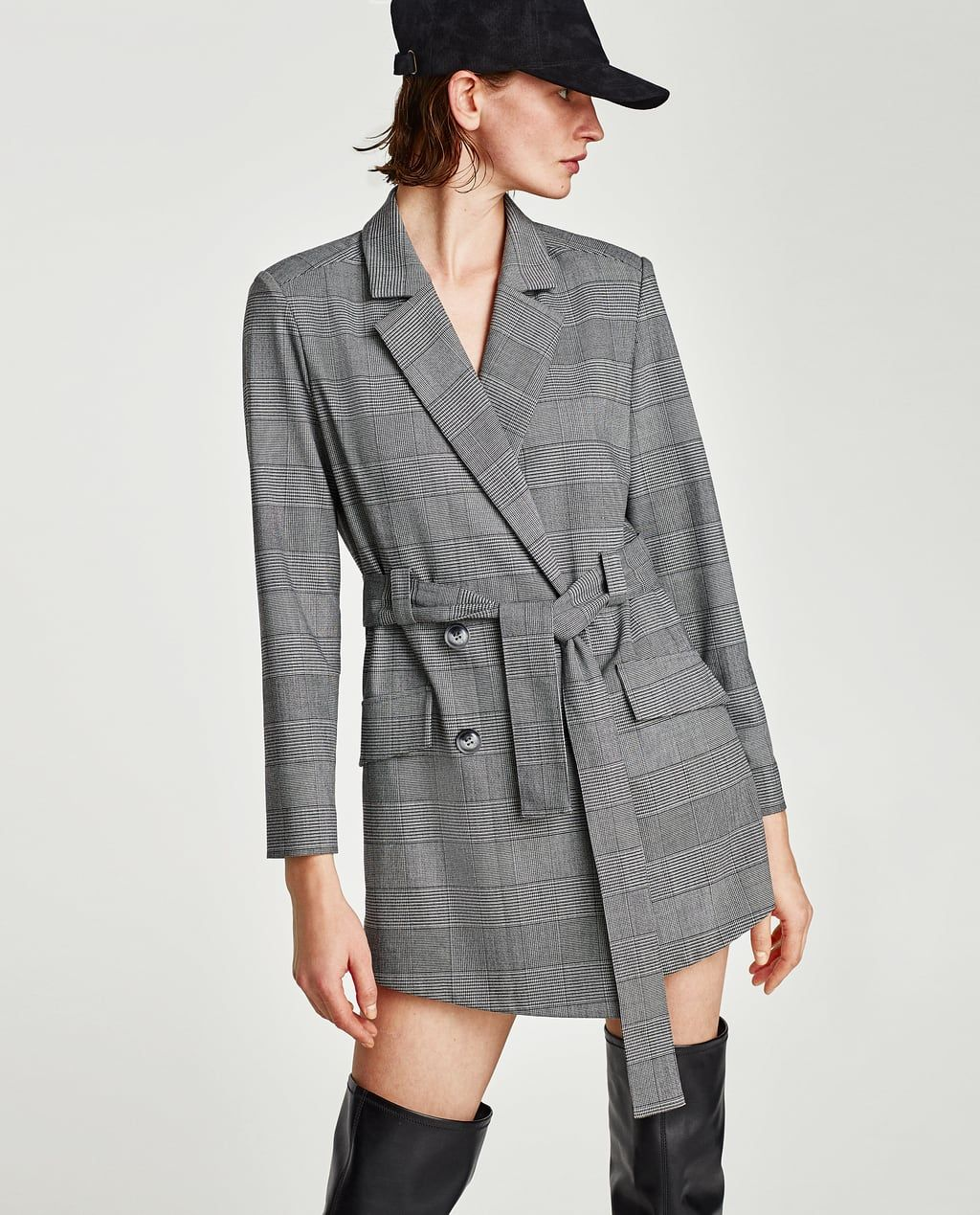 1b1e9e5b29 Image 2 of CHECKED BLAZER-STYLE JUMPSUIT from Zara