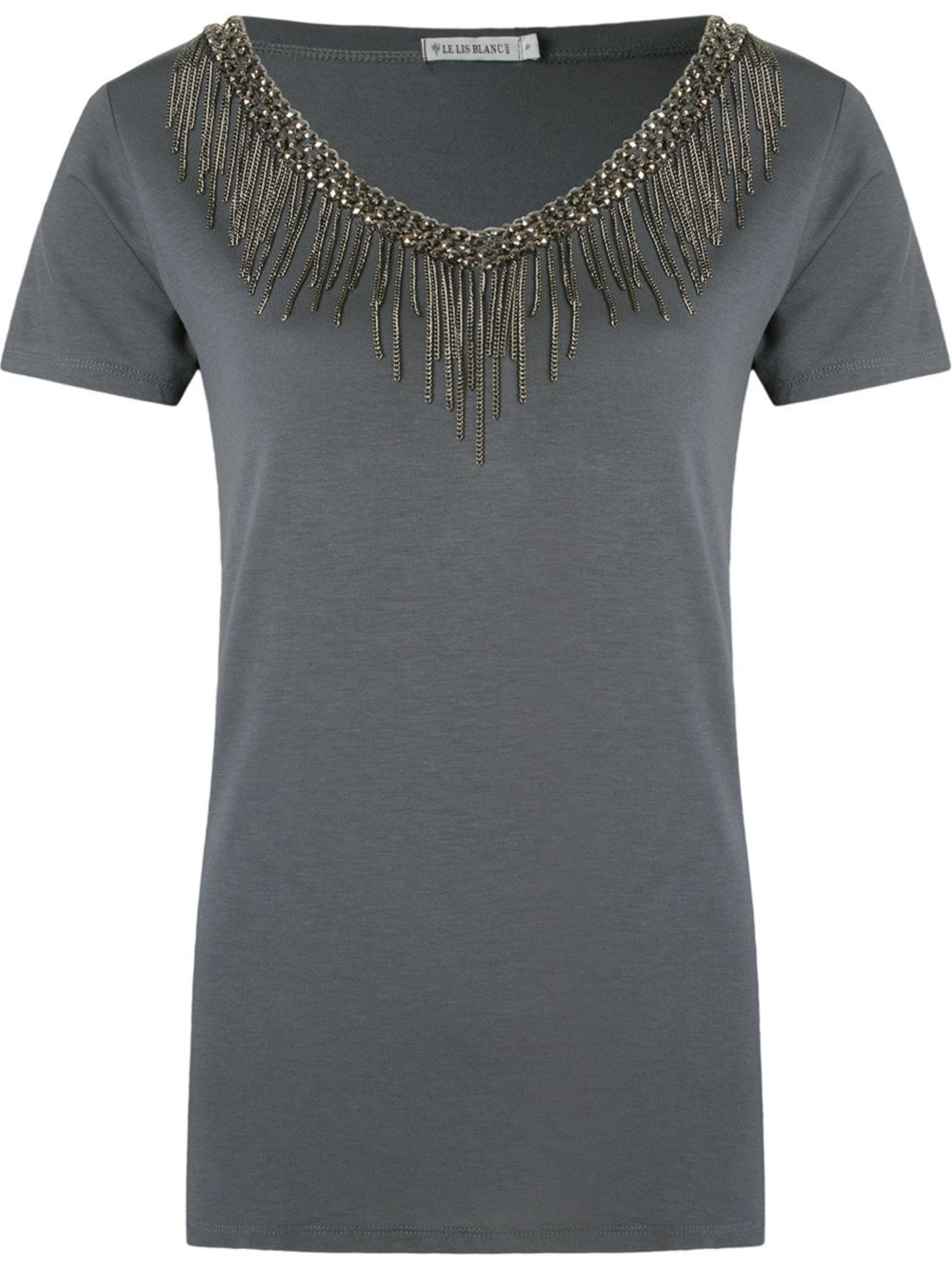 49af531a7534 Le Lis Blanc Camiseta com bordado | camiseta | Camisetas bordadas ...