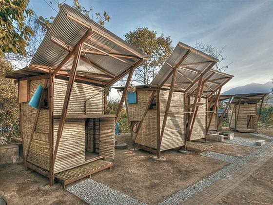 Sleeping huts for orphans in Noh Bo, Thailand Moderne