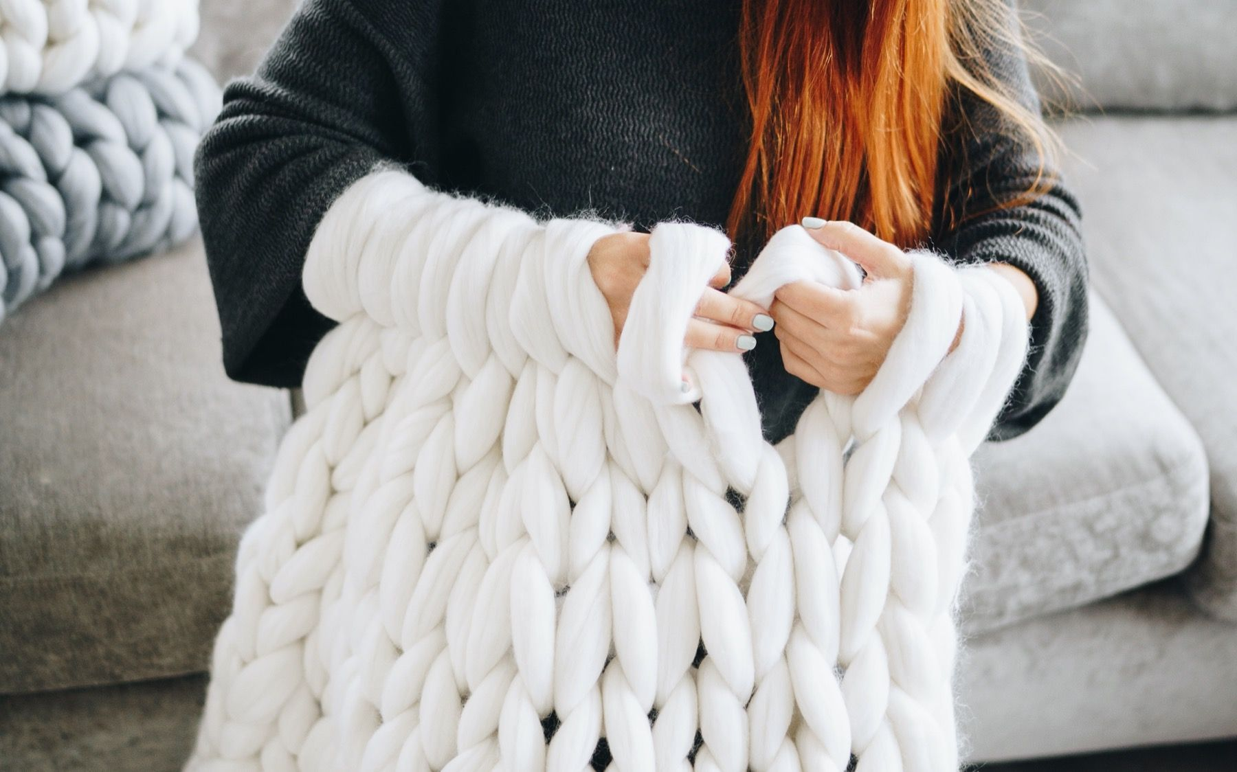 How much yarn do you need for chunky blanket Chunky knit