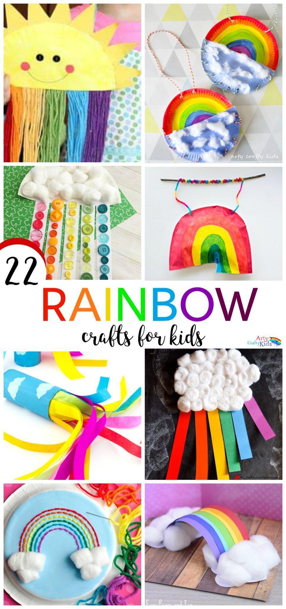 22 Rainbow Kids Crafts Rainbows Pinterest Crafts For Kids
