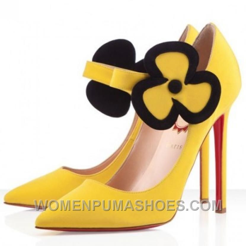 1facab223a88 http   www.womenpumashoes.com christian-louboutin-pensee-120mm-satin-pumps- yellow-for-sale-stswb.html CHRISTIAN LOUBOUTIN PENSEE 120MM SATIN PUMPS  YELLOW ...