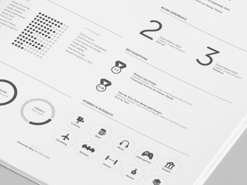 FREEBIE Resume redesign - Closer view Typography layout - view resume