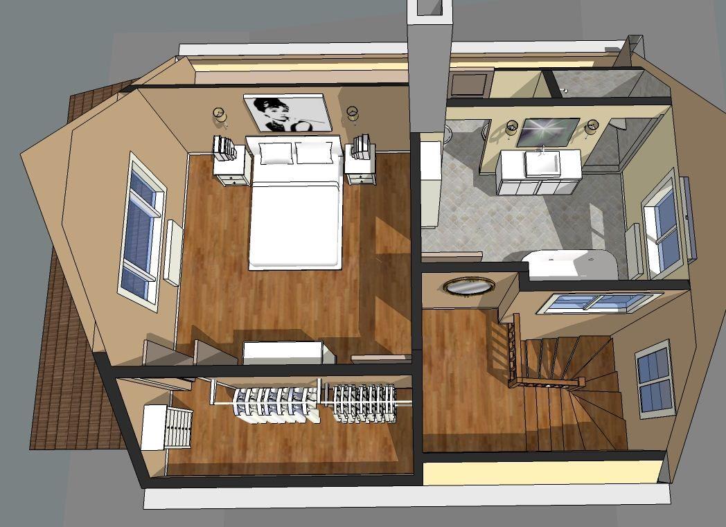 Best Attic Master Suite Floor Plans Master Suite Swiss Attic Renovation Attic Master Bedroom 400 x 300