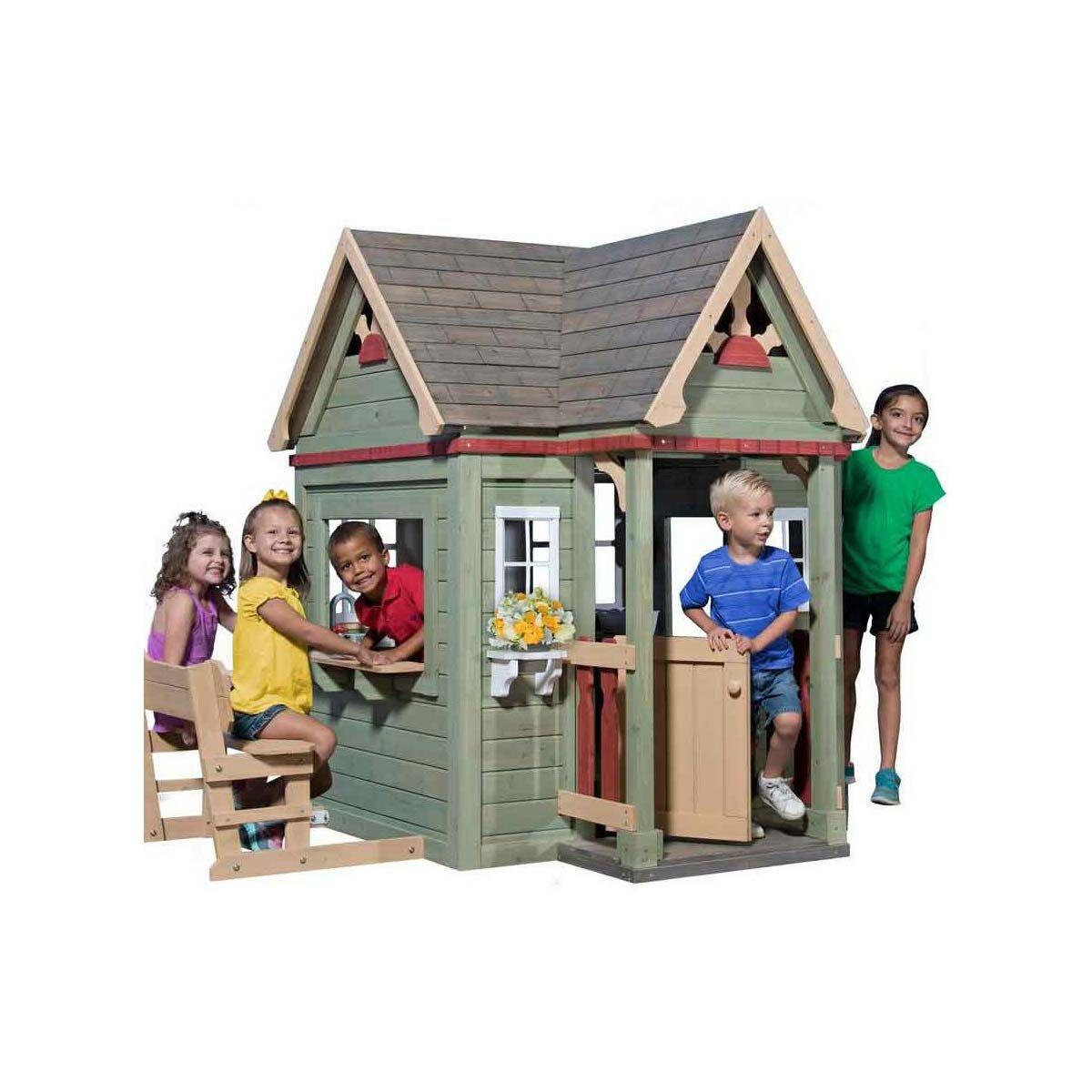 Backyard Spielhaus Victorian Inn aus Holz mit viel Zubehör