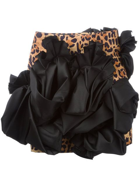 a7a10ce10 DSQUARED2 Leopard Print Ruffle Skirt. #dsquared2 #cloth #skirt ...