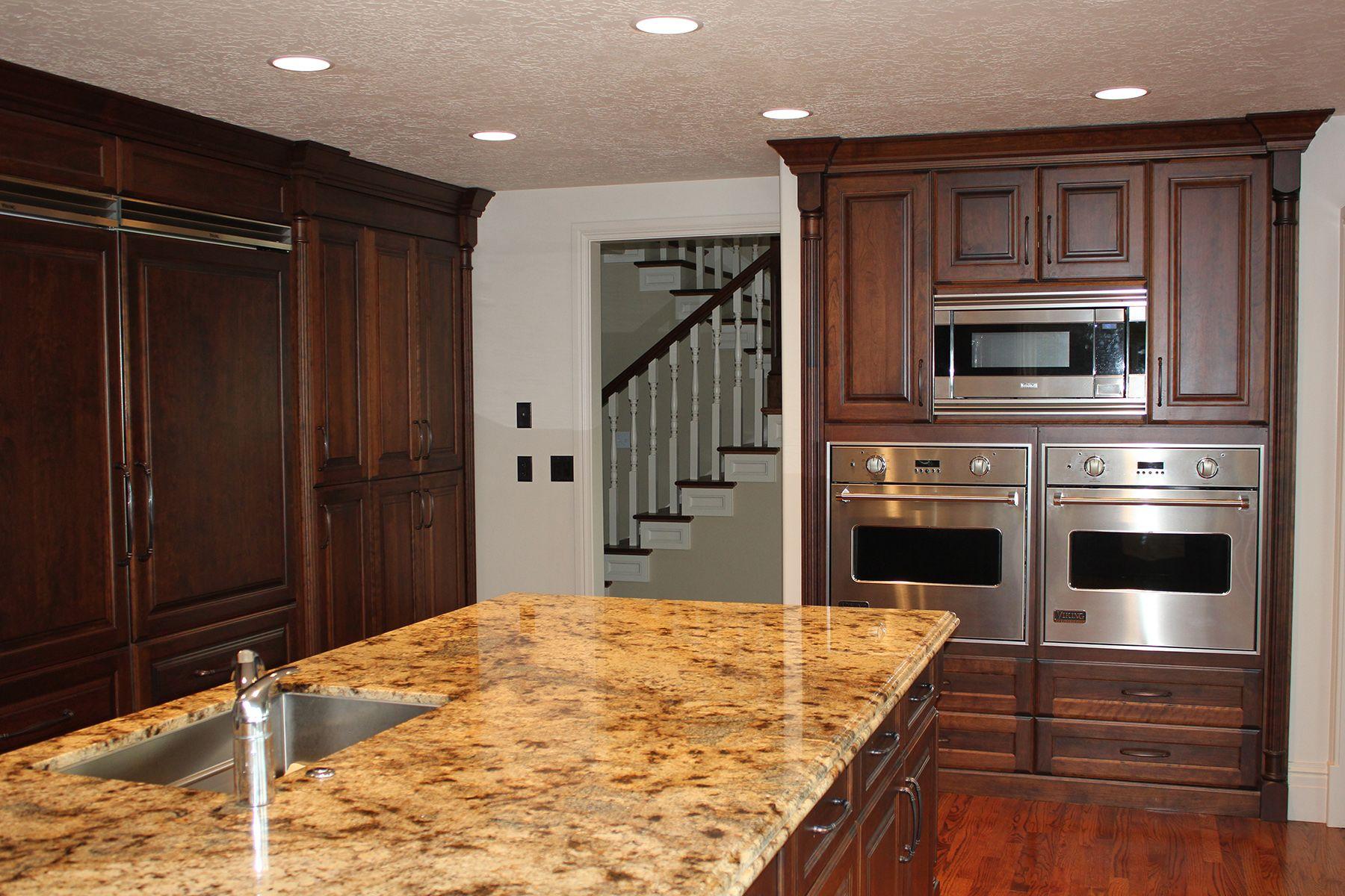 Kitchen with custom wood and granite in Sandy, Utah