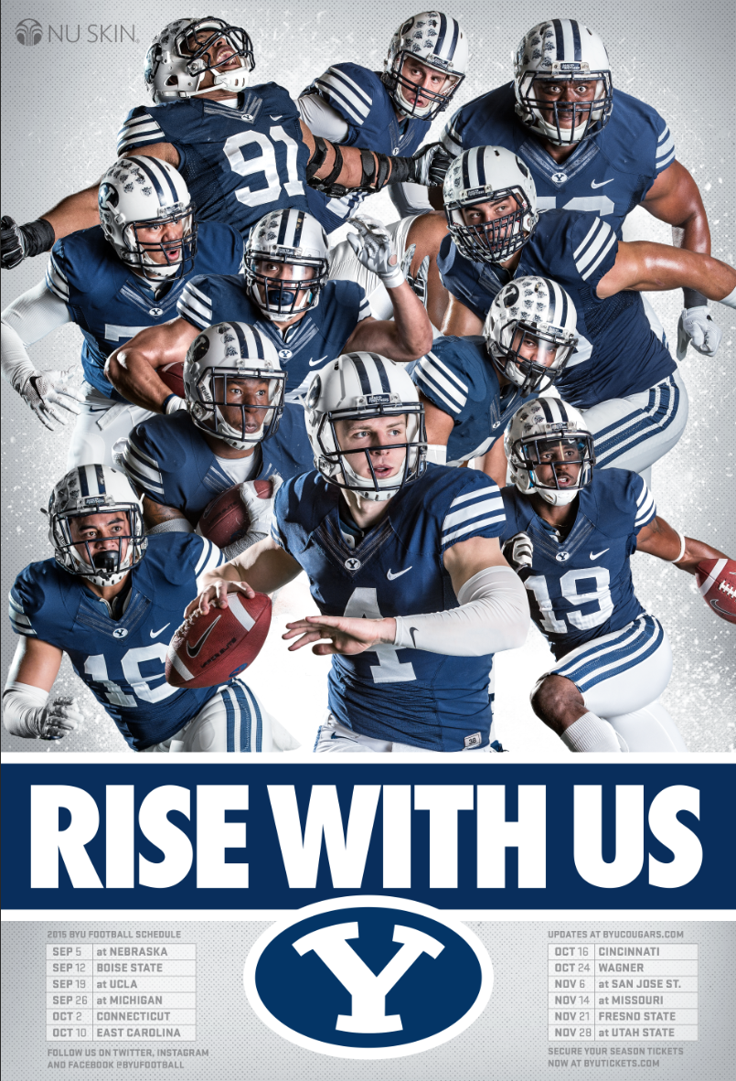 Mobile Apps Fan On Byu Football Football Poster Byu Cougars