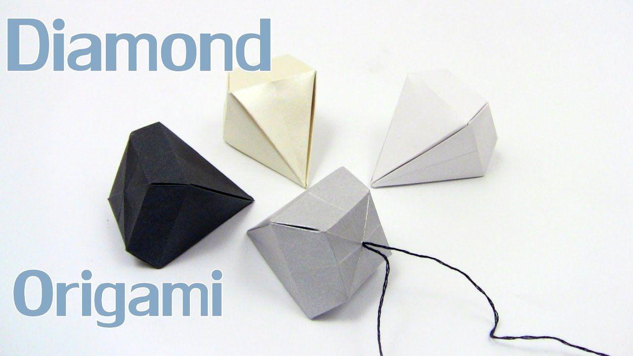 Origami Diamond Simple Easy Yakomoga Christmas Origami