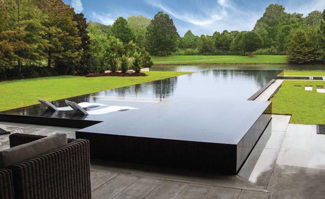 Award winning zero edge pool design dream home for Infinity pool design