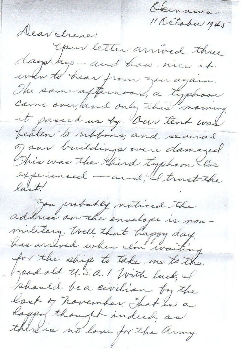 The last letter from a WWII pen-pal, 1945. A letter from an ...