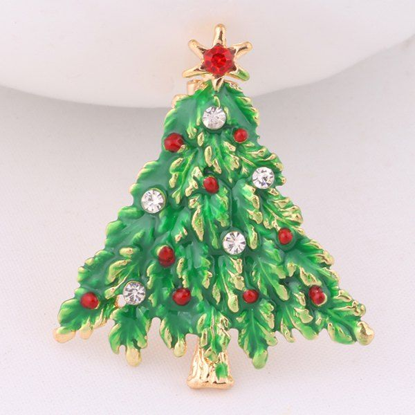 Enamel Christmas Tree Brooch #shoes, #jewelry, #women, #men, #hats