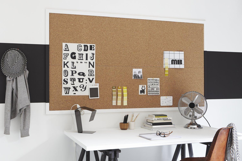 Une Plaque De Liege Pour Coller Vos Affiches Decoration Bureau Idee Deco Bureau Parement Mural