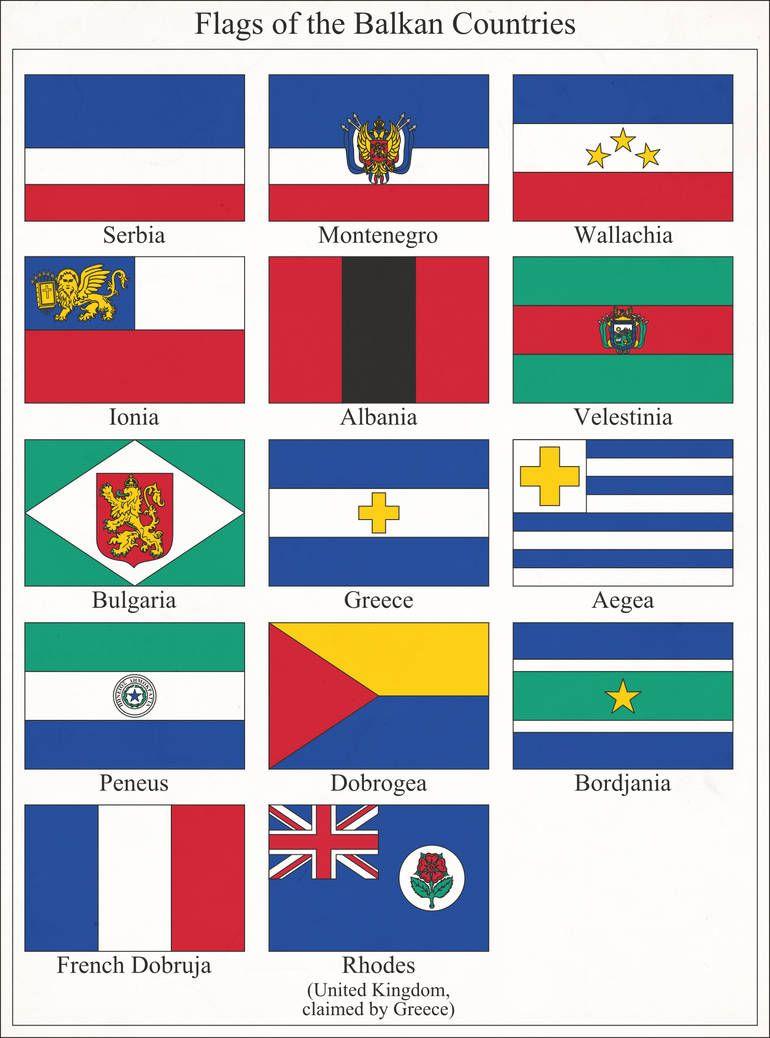 Balkan Flaggor