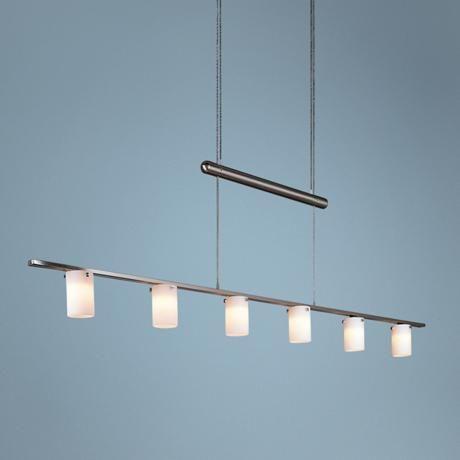 George Kovacs Adjustable Six Light Bar Chandelier – Bar Chandelier