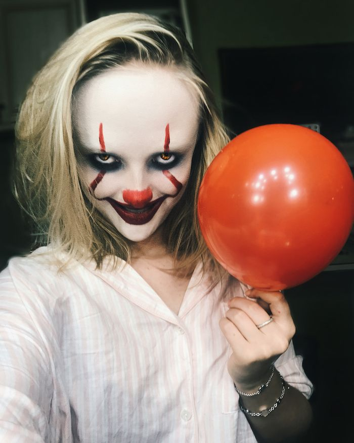 maquillage halloween ca clown