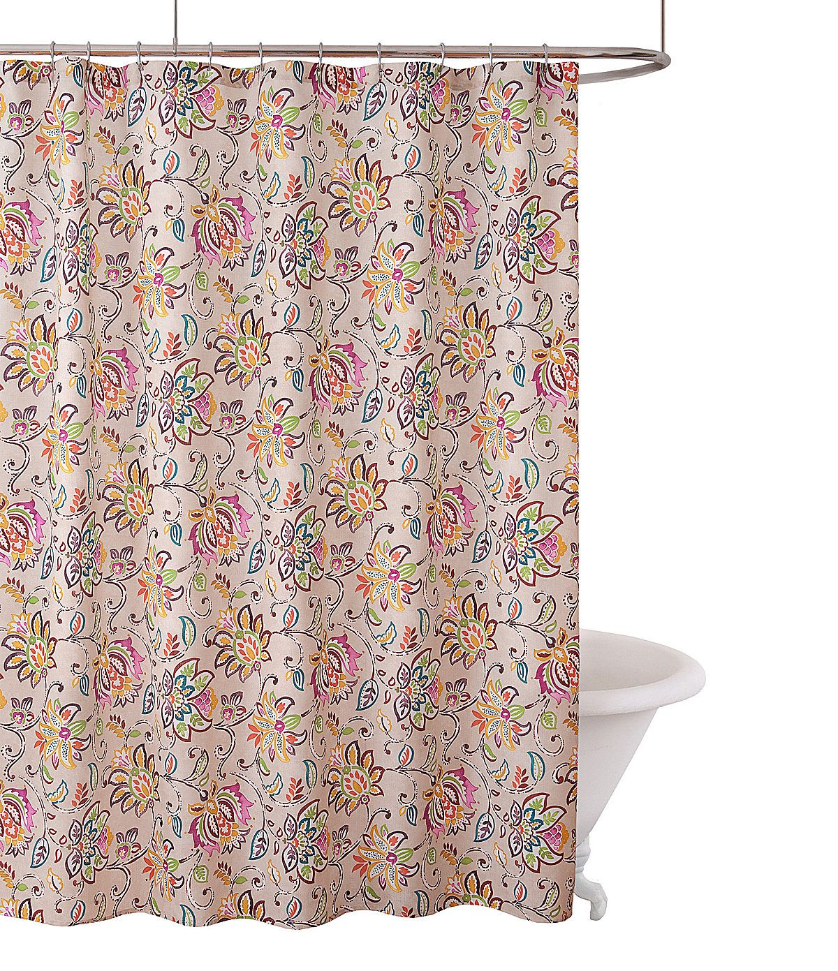 Fiesta Bath Jacobean Shower Curtain