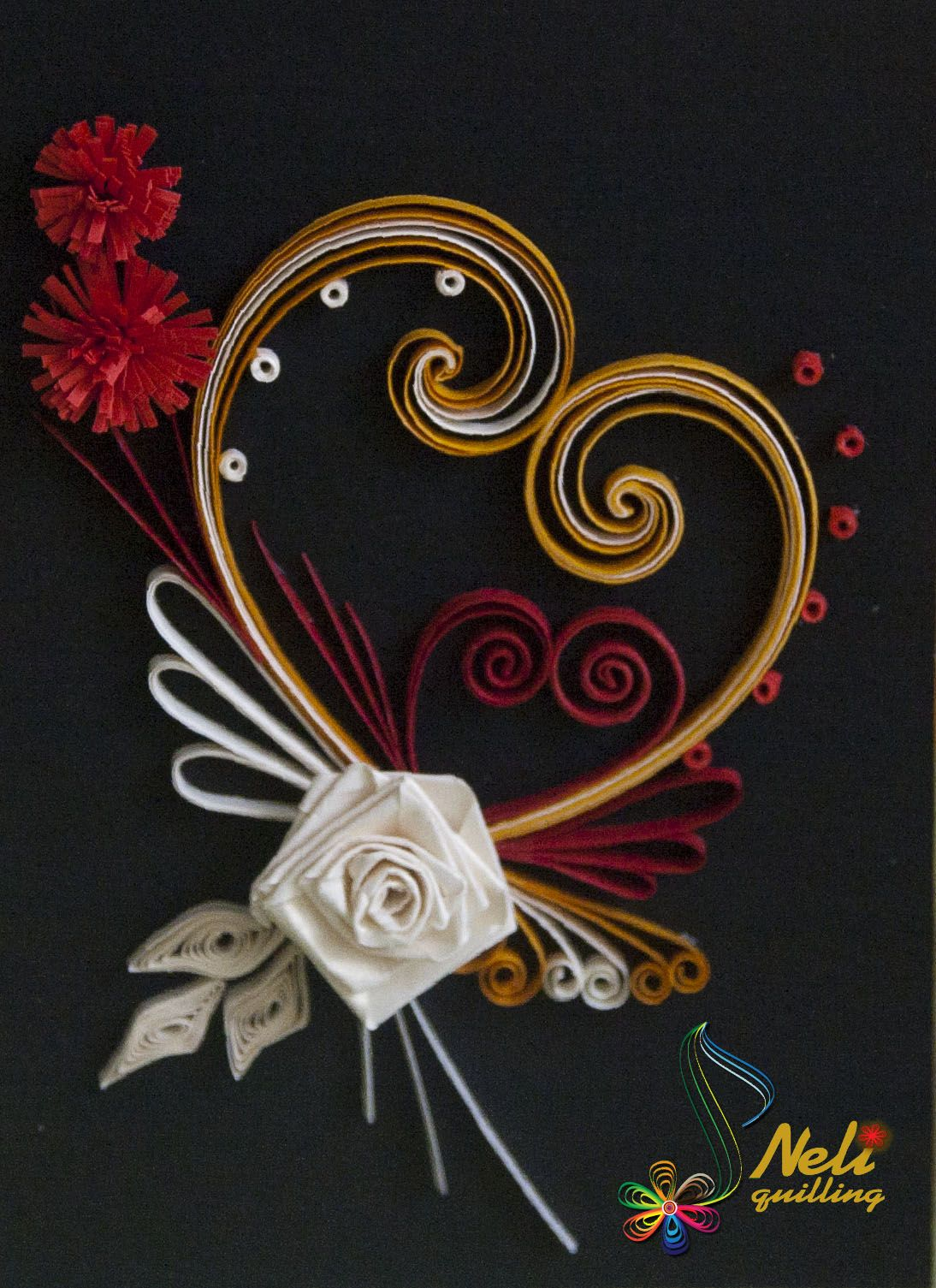 neli: Quilling cards - With love...-3