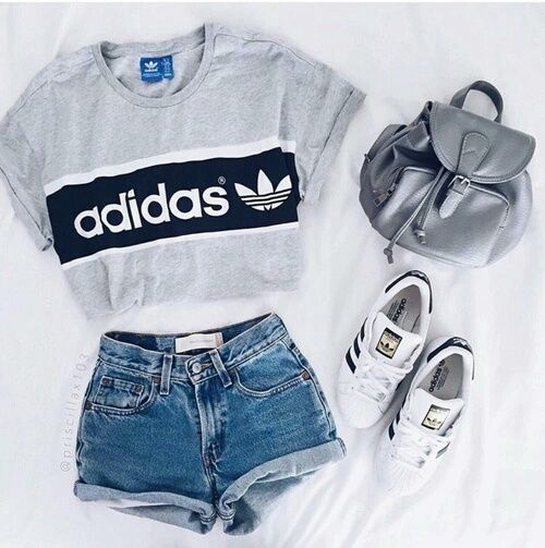 mode, adidas, Tumblr, fille, swag | Adidas outfit, Clothes