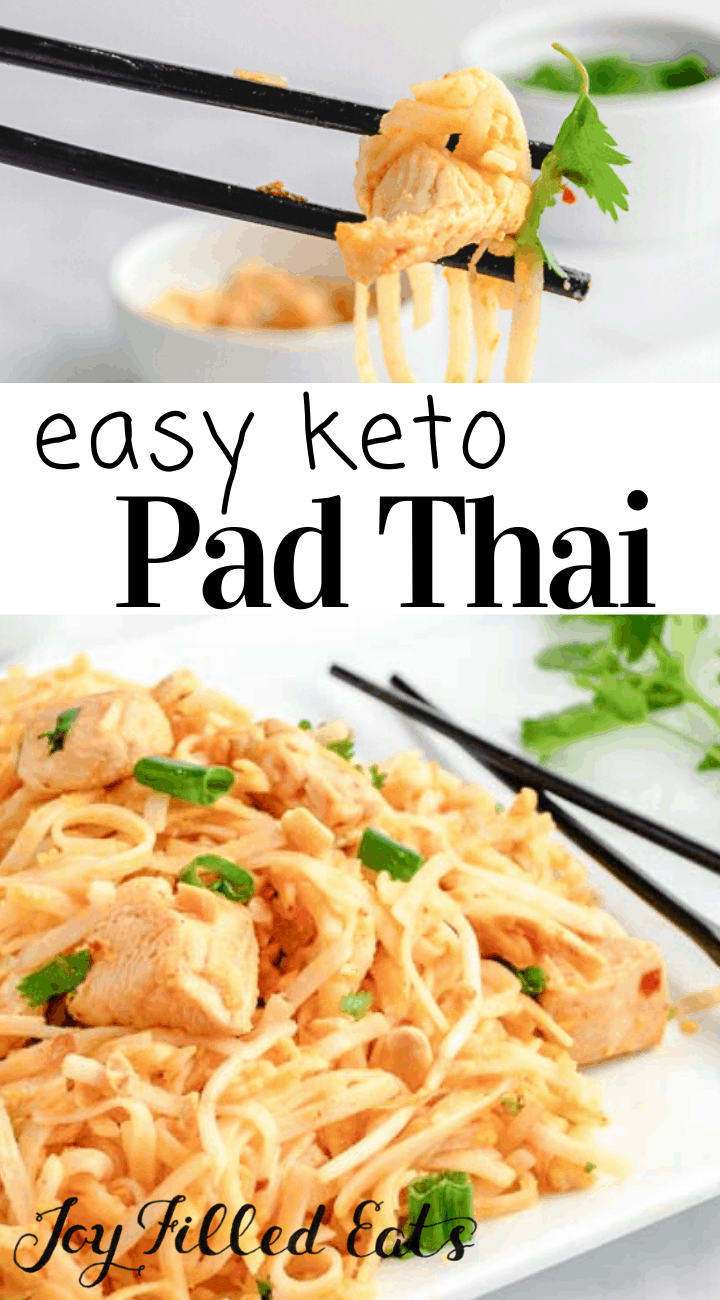 keto pad thai has all the flavors of the traditional rice