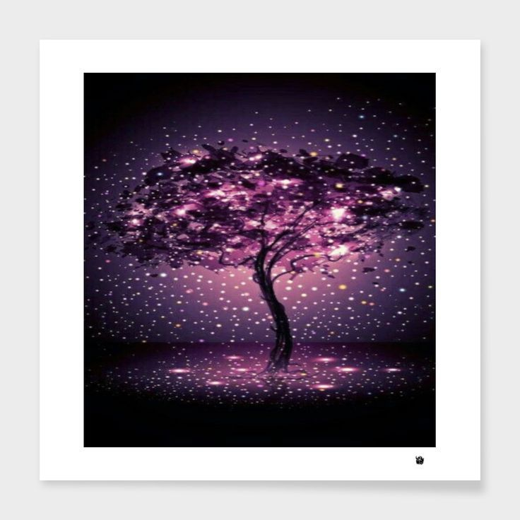 «glitter tree» Art Print by Rainbow - Limited Edition from $29.9   Curioos