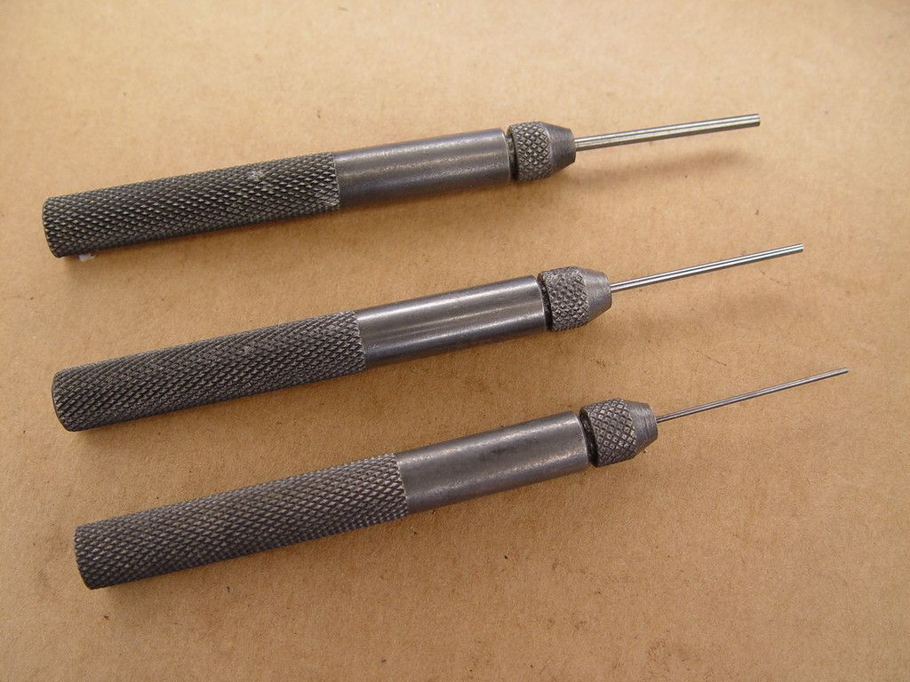 Gunsmith Punch Set of Three with Replacable tips