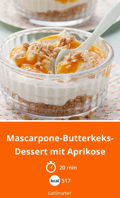 Mascarpone-Butterkeks-Dessert mit Aprikose