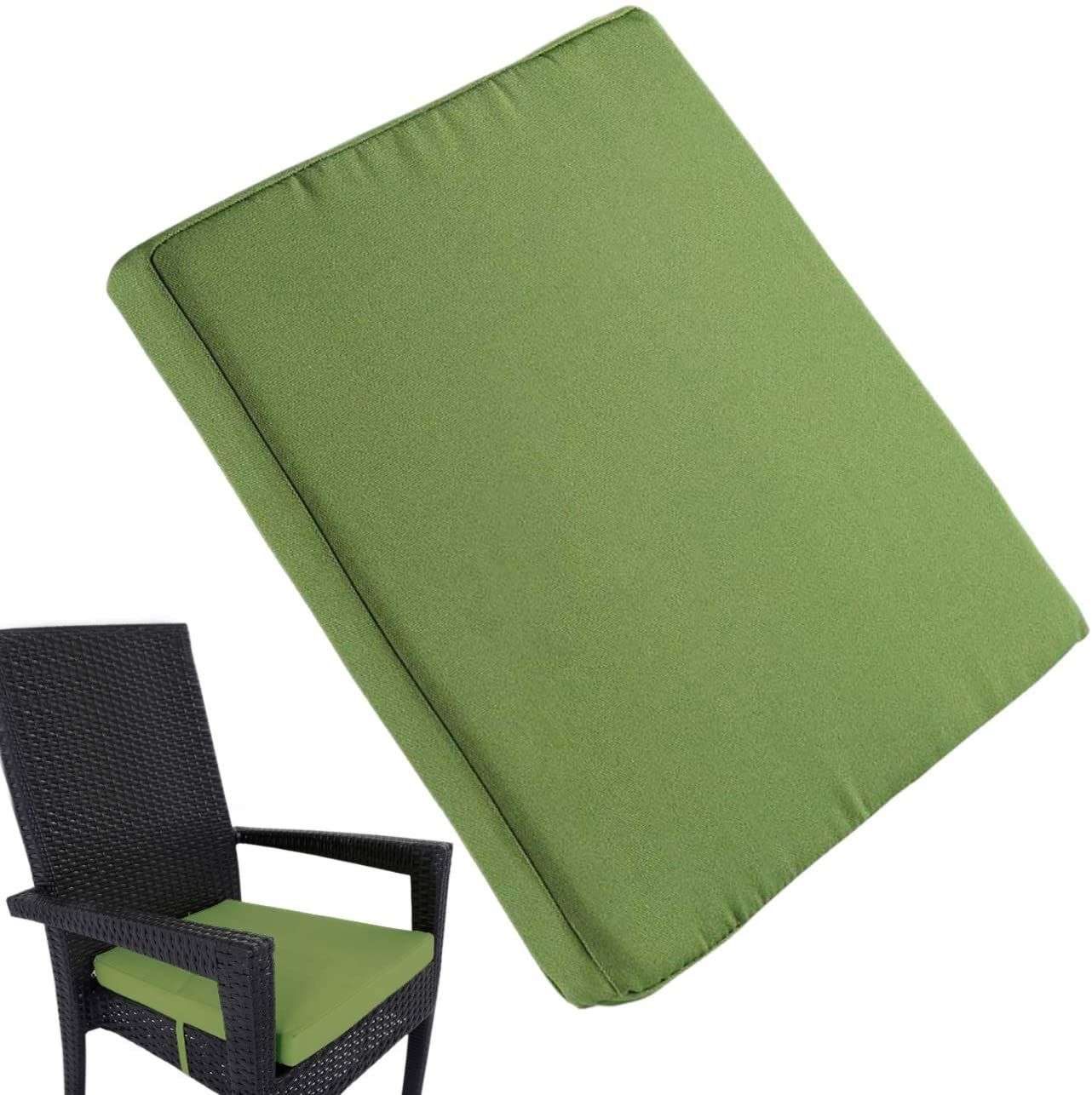 Uheng 6 Pack Patio Outdoor Chair Cushions with Ties, Seat
