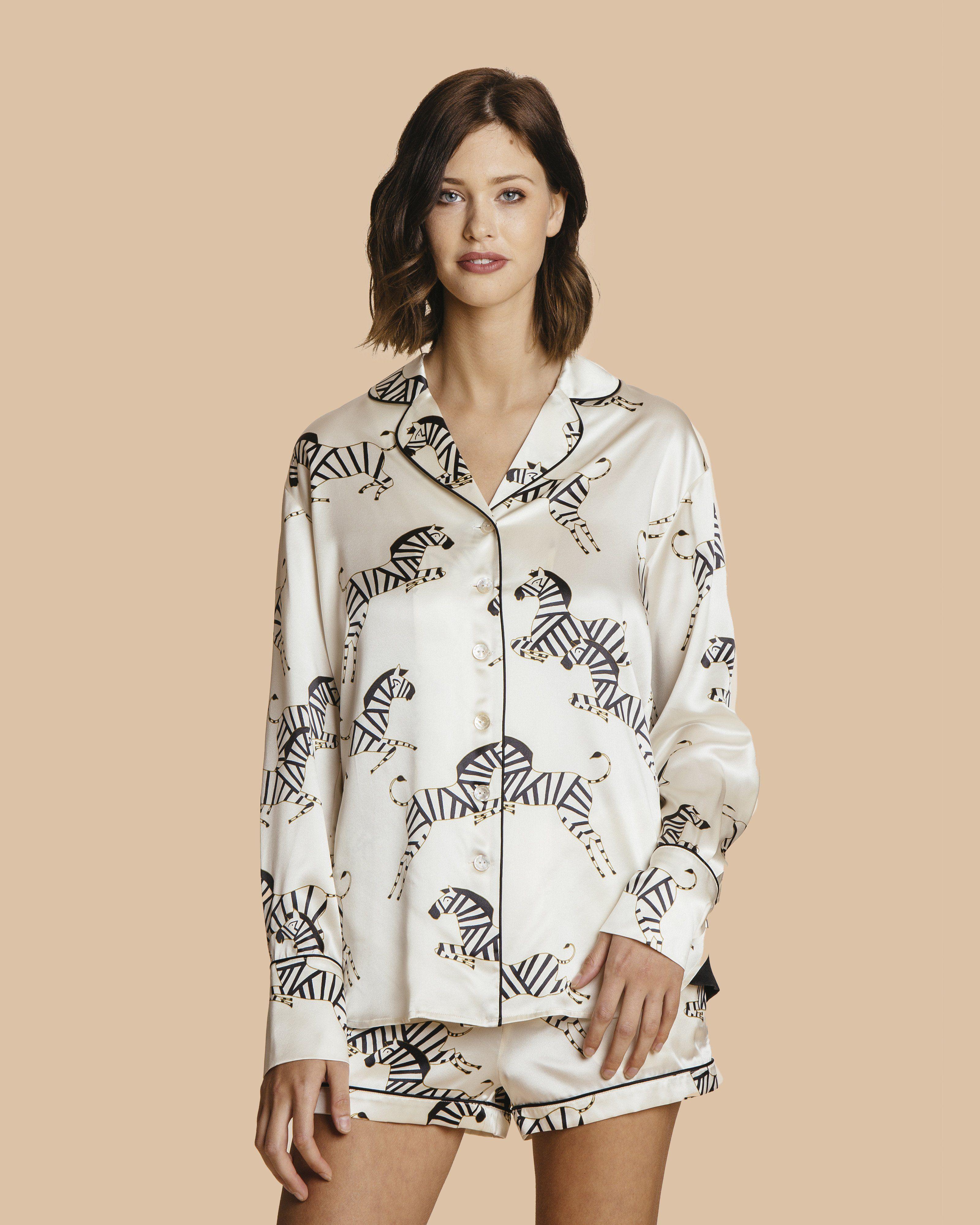 Olivia Von Halle Alba Nancy Silk Pajama – Jane's Vanity