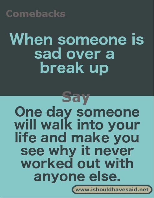 Say who to just to up what someone broke Final Words