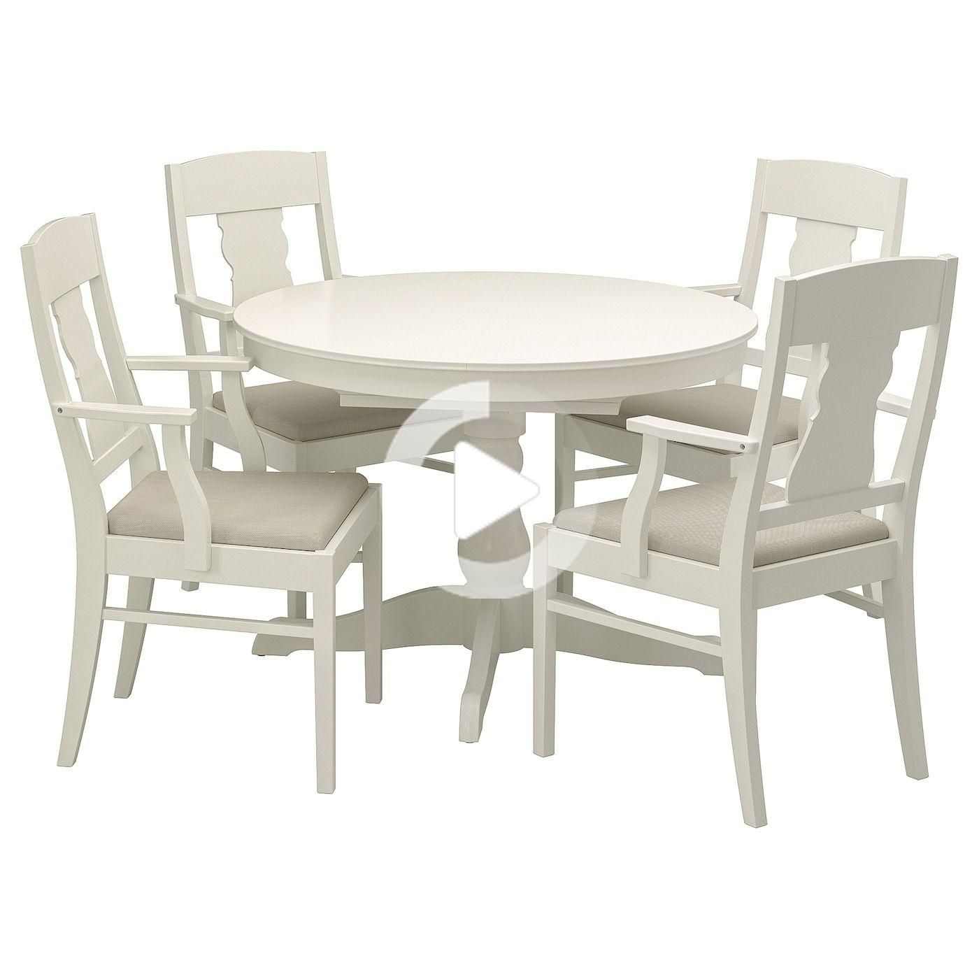 Ikea Ingatorp Table Et 4 Chaises Table A Rallonge Chaises Blanches Ikea