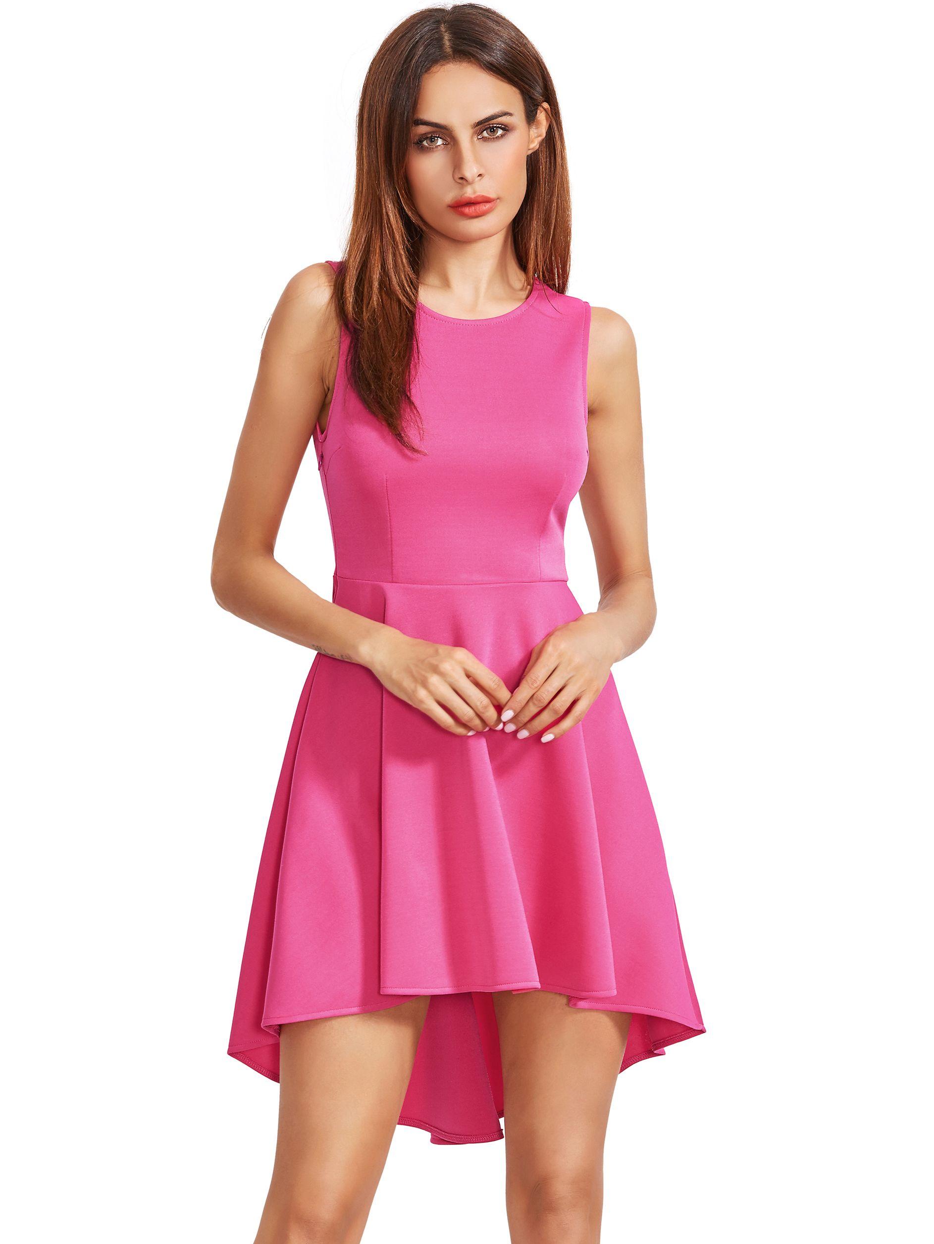 Vestido asimétrico sin mangas del dobladillo del dobladillo del ...