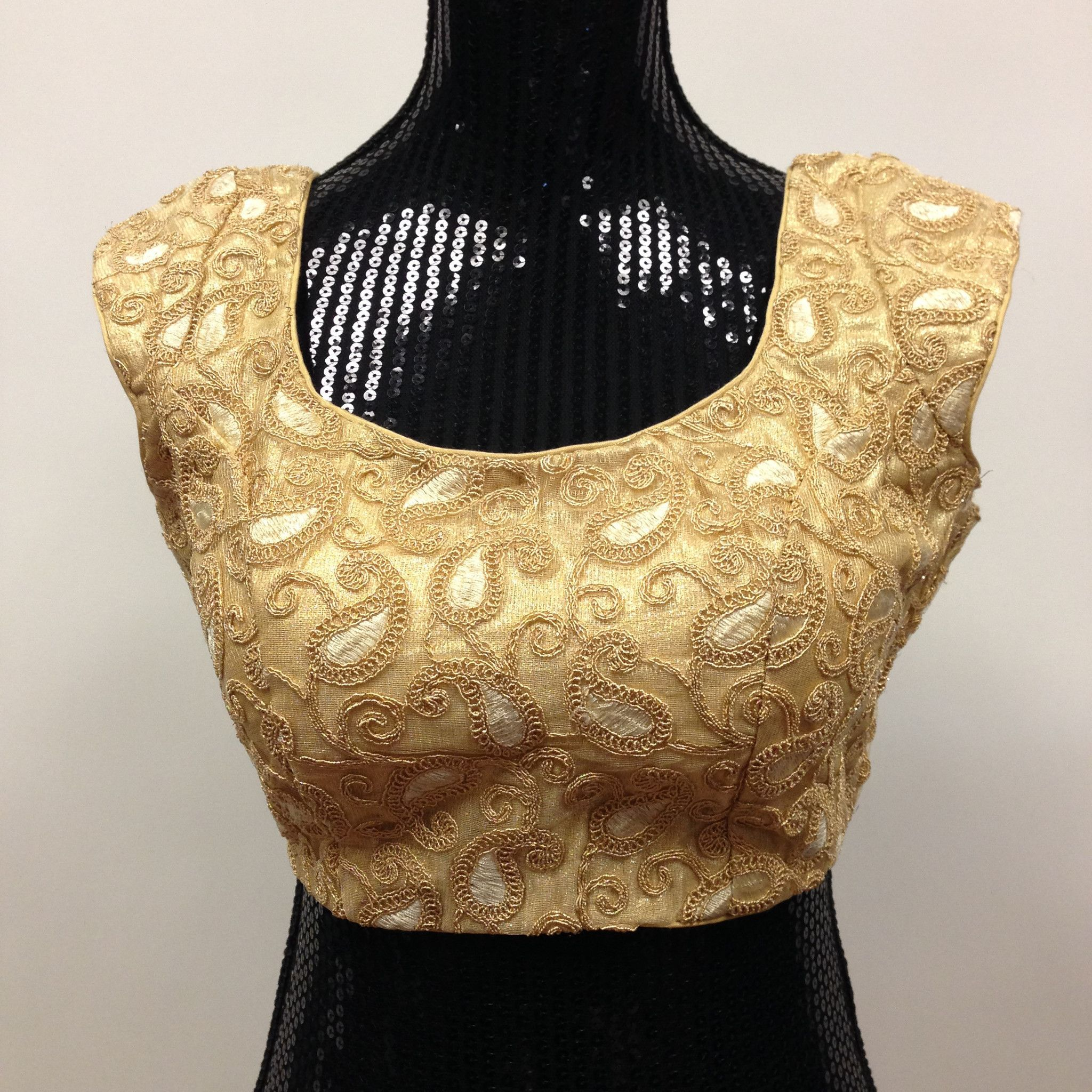 Designer Blouse - Gold | Work blouse, Princess cut and Tassels