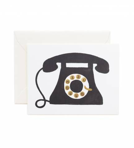 Rifle Paper Co. - Hello! Telephone - Available As A Single Folded Card Or An Assorted Set Of 8