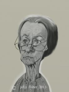 "Irene Ryan as 'Granny' in ""The Beverly Hillbillies""  (by John Fisher)"
