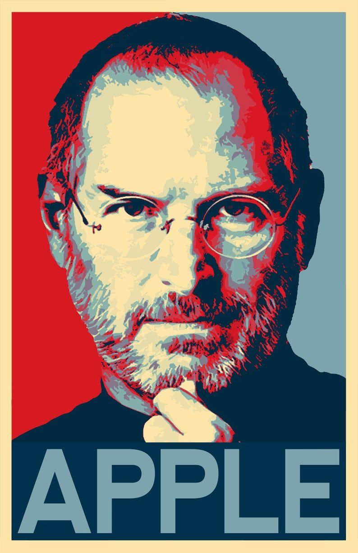 Steve Jobs Illustration 2 Apple Technology Icon Pop Art