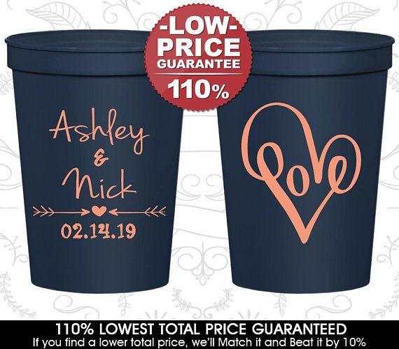 Personalized Stadium Cups Wedding Plastic Favor C252