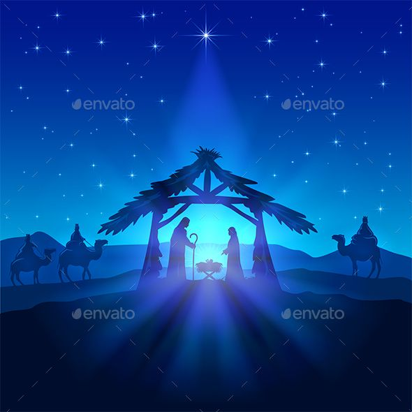 Christmas Star and Birth of Jesus — JPG Image #manger #wise • Available here → https://graphicriver.net/item/christmas-star-and-birth-of-jesus/14033737?ref=pxcr