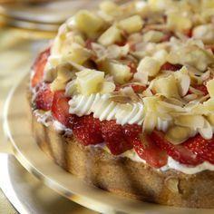 Erdbeer-Ananas-Torte
