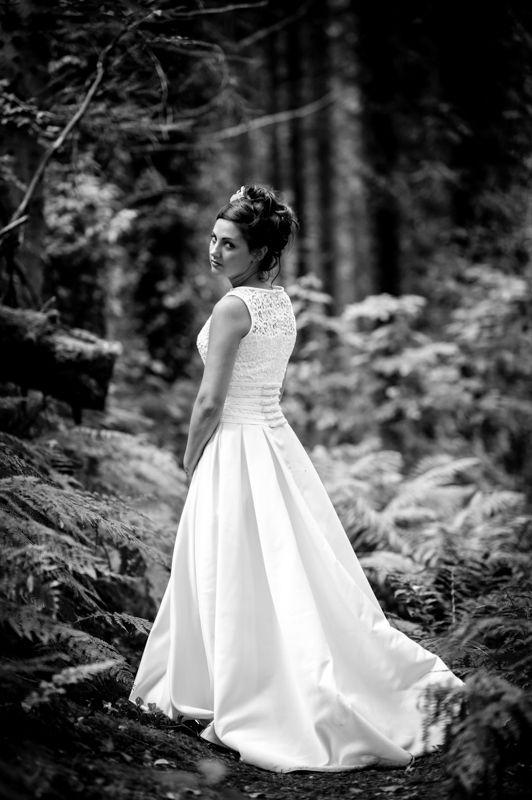 Alexandra in the woods in Somerset.